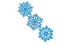 Studio close-up of a bright blue snowflake ornament Stock Image