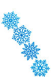 Studio close-up of a bright blue snowflake ornament Stock Photos