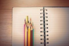 A studio close up photo of coloring pencils Stock Photo