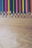 A studio close up photo of coloring pencils Stock Images