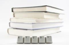 Studio compitato e libri Fotografia Stock Libera da Diritti