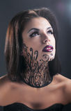 Studio conceptual female beauty portrait Stock Images
