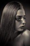Studio conceptual female beauty portrait Royalty Free Stock Image