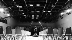 Studio. Concert room onair black&white Royalty Free Stock Photo
