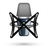 Studio Condenser Microphone Royalty Free Stock Photos