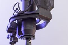 Studio condenser microphone stock photography