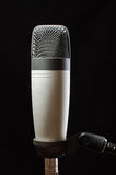 Studio condenser microphone  on the black background Stock Photo