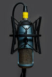 Studio Condenser Microphone Blue and Gold Royalty Free Stock Photography