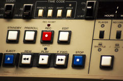 Studio controls. Tv studio control panel with buttons Stock Photography