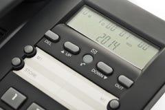 Studio corporativo dell'esposizione del telefono dello scrittorio isolato Immagine Stock