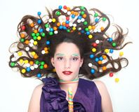 Studio Creative Candy Themed Shoot Royalty Free Stock Image