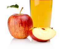 Studio cropped shot red apple with juice Stock Photography