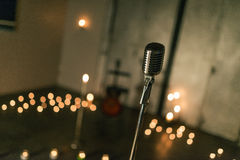 Studio d'annata mic Fotografia Stock Libera da Diritti
