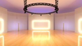 Studio. 3D CG rendering of a studio Stock Photography