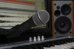 Studio d'enregistrement à la maison photos stock