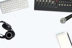 Studio d'enregistrement de musique d'ordinateur images stock