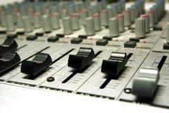 Studio d'enregistrement/mélangeur à la maison Images stock