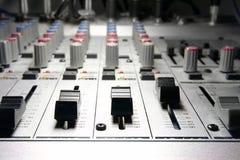 Studio d'enregistrement/mélangeur Images libres de droits