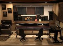 Studio d'enregistrement sonore Photos libres de droits
