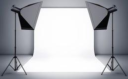 Studio. 3D illustration of an photographers background Stock Photo