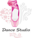 Studio de danse logotype Images stock