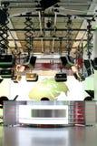 Studio de nouvelles de TV installé - intérieur de télévision photographie stock libre de droits