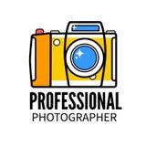 Studio de photo ou calibre professionnel de logo de photographe Photo libre de droits