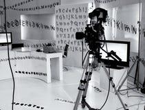 Studio de télévision photographie stock