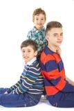 Studio de tir avec trois frères Photo libre de droits