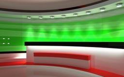 Studio de TV Studio d'actualités, ensemble de studio Images stock