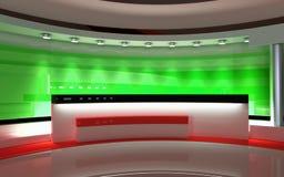 Studio de TV Studio d'actualités, ensemble de studio Photographie stock