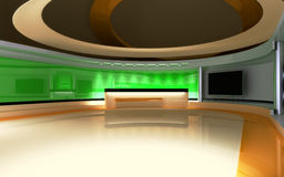 Studio de TV Studio d'actualités, ensemble de studio Image libre de droits
