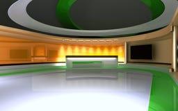 Studio de TV Studio d'actualités, ensemble de studio Image stock
