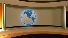 Studio de TV Studio d'actualités Studio jaune Le contexte parfait Image stock