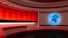 Studio de TV Studio d'actualités Studio rouge Le contexte parfait Image stock