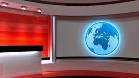 Studio de TV Studio d'actualités Studio rouge Le contexte parfait Photos libres de droits