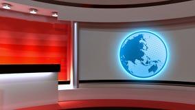 Studio de TV Studio d'actualités Studio rouge Le contexte parfait pour quels Photographie stock