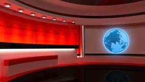 Studio de TV Studio d'actualités Studio rouge Le contexte parfait pour quels Photographie stock libre de droits