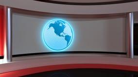 Studio de TV Studio d'actualités Studio rouge Le contexte parfait pour quels Image libre de droits