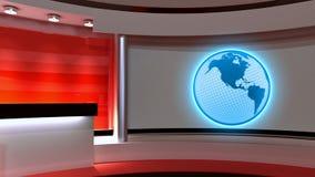 Studio de TV Studio d'actualités Studio rouge Le contexte parfait pour quels Image stock