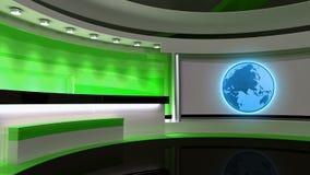 Studio de TV Studio d'actualités Studio vert Le contexte parfait Photos stock