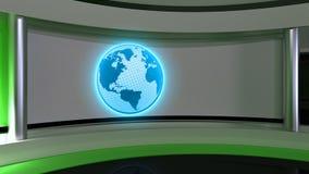 Studio de TV Studio d'actualités Studio vert Le contexte parfait pour a Image libre de droits