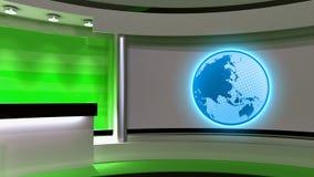 Studio de TV Studio d'actualités Studio vert Le contexte parfait pour a Images stock