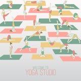 Studio de yoga Photographie stock