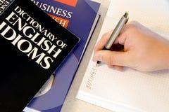 Studio degli idiomi inglesi Immagine Stock