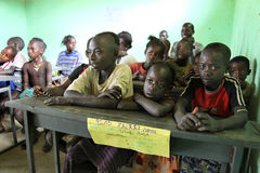 Studio dei bambini alla scuola etiopica Fotografia Stock