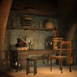 Studio del castello di fantasia Immagini Stock Libere da Diritti