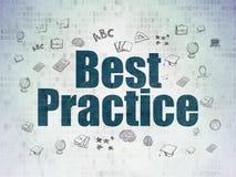 Studio del concetto: Best practice sul fondo della carta di dati di Digital Illustrazione di Stock