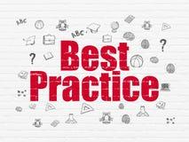 Studio del concetto: Best practice sul fondo della parete Illustrazione di Stock