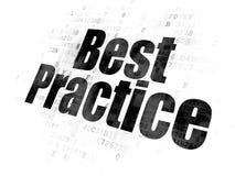 Studio del concetto: Best practice sul fondo di Digital Royalty Illustrazione gratis